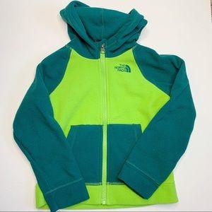Green The North Face Fleece Jacket